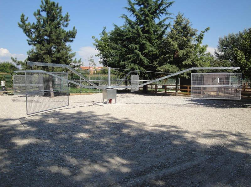 giostra da lavoro per quattro cavalli in fase di lavorazione diametro 14-metri realizzata ad Udine