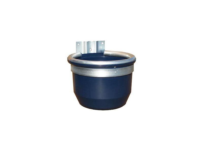 mangiatoia in polipropilene con bordo in alluminio e supporto in ferro zincato litri 17