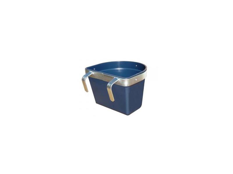 mangiatoia in polipropilene con supporto a ganci in ferro zincato capacità litri 15