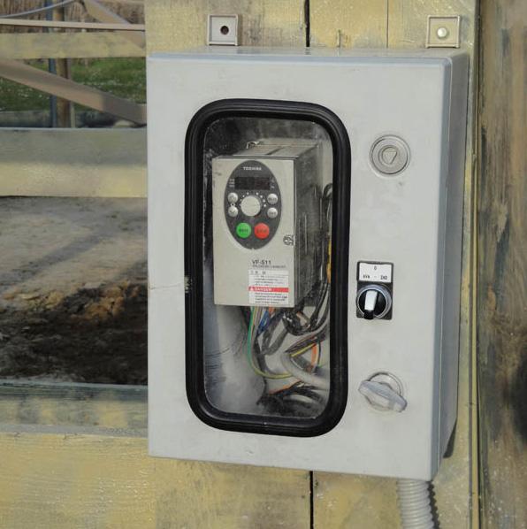 quadro elettrico con coperchio per giostre da lavoro