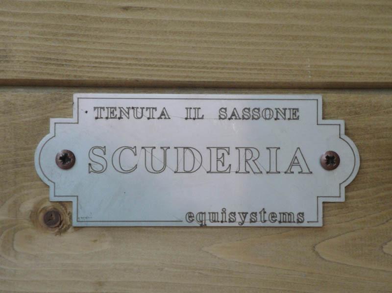 targhetta scuderia accessorio box per cavalli