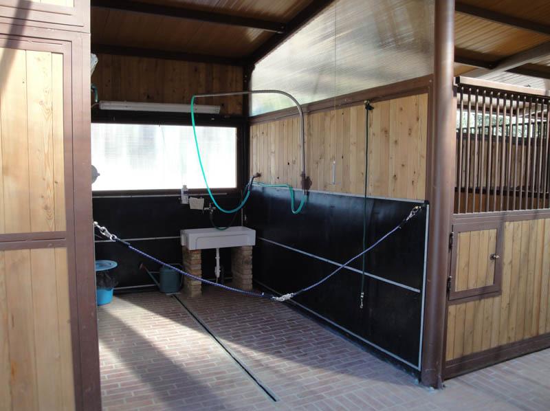 zona lavaggio cavalli scuderia Il Sassone Gavorrano Grosseto